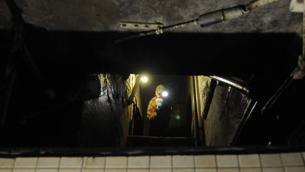 Túnel clandestino en Baja California