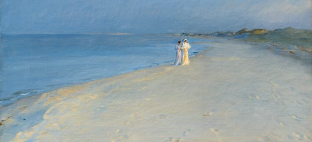 ´Summer evening at the South beach, Skagen. Anna Ancher and Marie Krøyer, 1893´