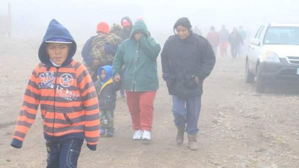 Frío y niebla en Saltillo