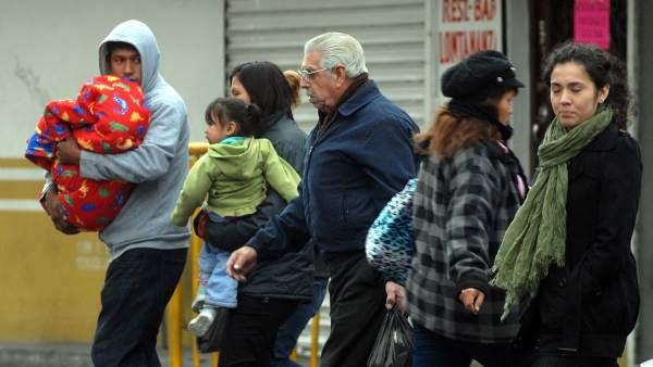 Frío en Monterrey