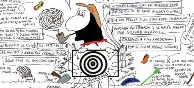 Caricatura del Subcomandante Marcos