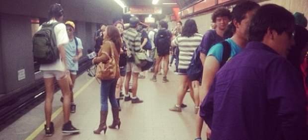 FlashMob 'Al metro sin pantalones'