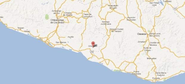 Omepetec en el mapa