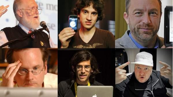 Grandes rostros de Internet