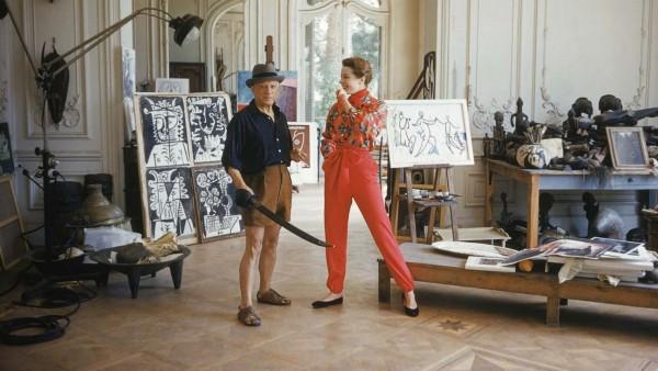 Pablo Picasso in Studio #5 Cannes, France, 1955