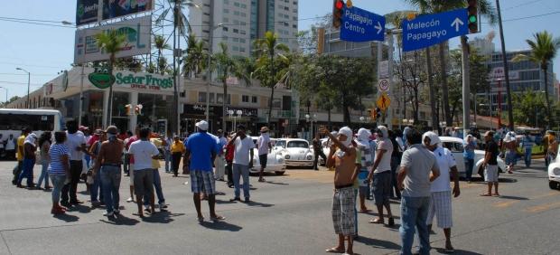 Bloqueos en Acapulco