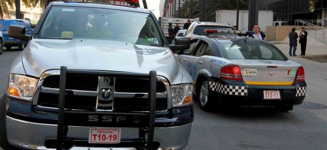 Operativo de policía en la Ciudad de México