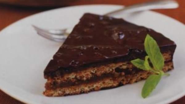 Tarta de chocolate y almendras de Ikea
