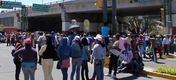 Maestros en paro en Guerrero
