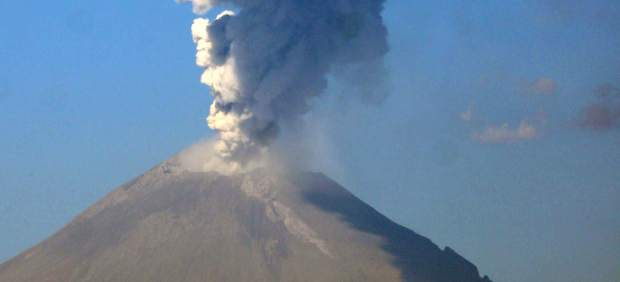 El volcán Popocatépetl