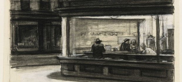 ´Study for Nighthawks´