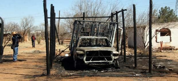 Incendio por robo de combustible.