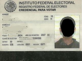 Credencial del IFE