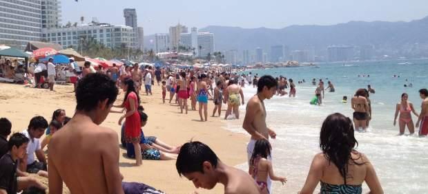 Turistas en Acapulco