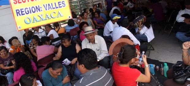 Bloqueos de maestros del SNTE en Oaxaca