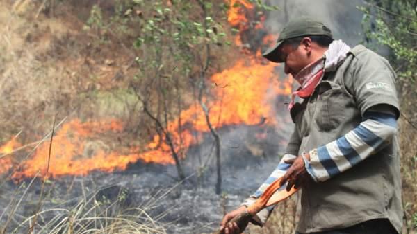 Incencio en Tlaxcala