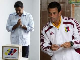 Capriles y Maduro ya han votado