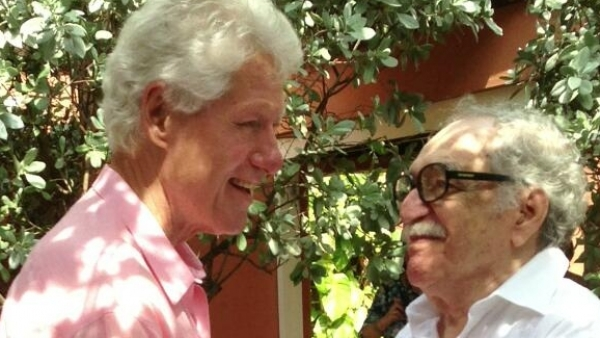 Bill Clinton y Gabriel García Márquez