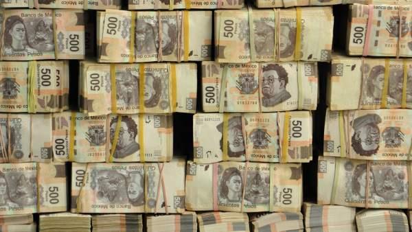 Dinero decomisado en Tabasco