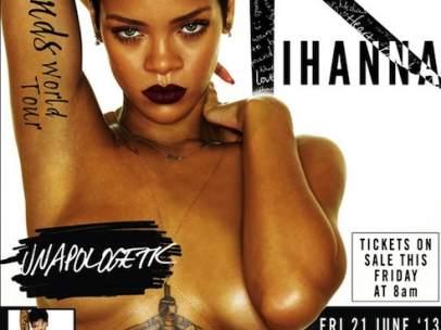 Publicidad de Rihanna en 'topless'