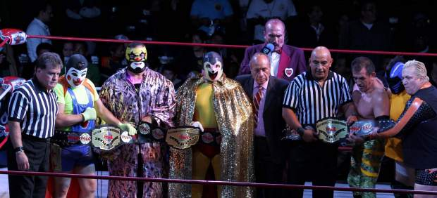 Hijo del Santo y Blue Demon Jr.