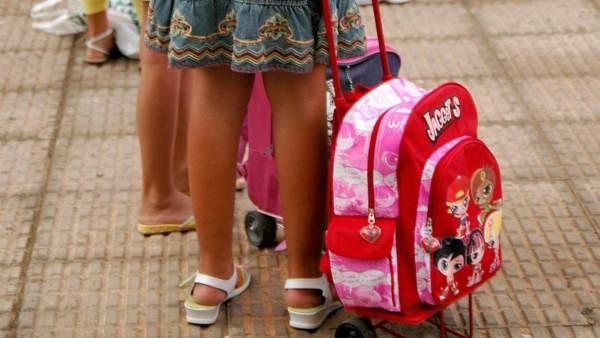 Menores en el colegio
