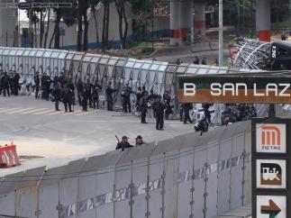 Protestas antes del primer informe