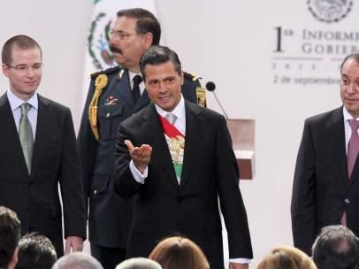 Enrique Peña Nieto durante su Primer Informe de Gobierno