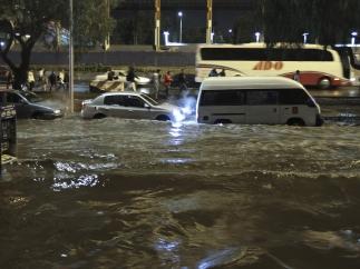 Fuertes lluvias en el DF