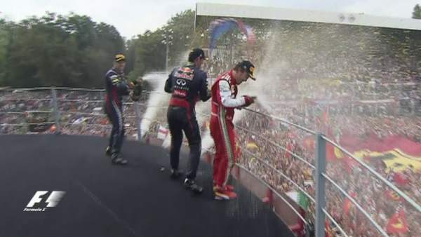 Podio del GP de Italia de Fórmula 1