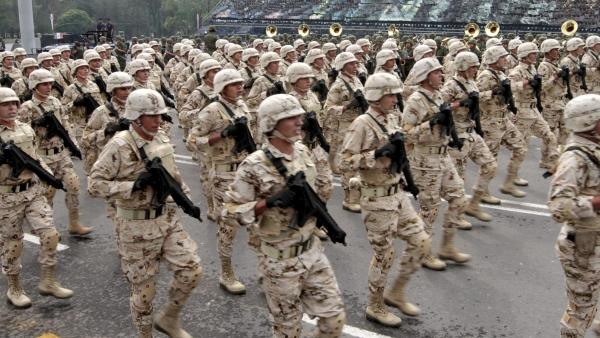 Ensayo del desfile militar