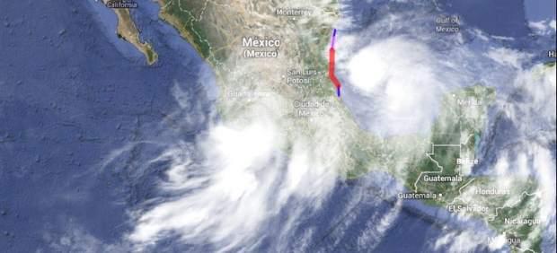 Huracán Ingrid y la tormenta tropical Manuel
