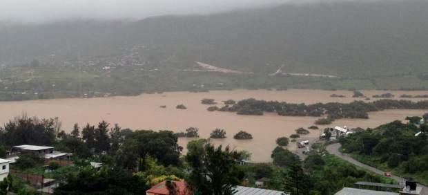 Casas dañadas en Guerrero