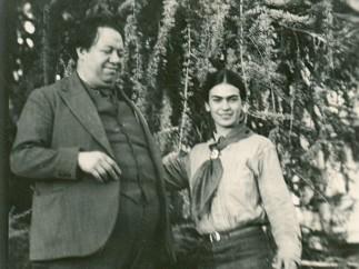 Frida Kahlo y Diego Rivera, California, 1931