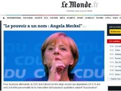 Le Monde - Elecciones de Alemania