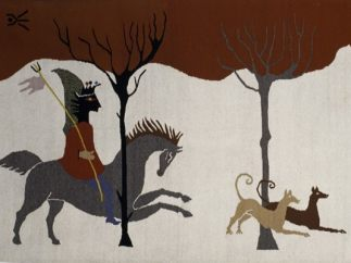 ´Hunting Scene´, 4 of 6 tapestries for Edward James, 1948 – 1958