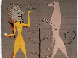 ´Iguana and Dog´, 3 of 6 tapestries for Edward James, 1948 – 1958