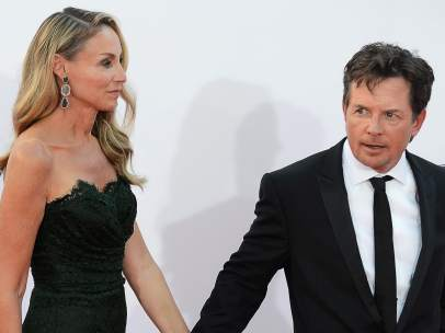 Michael J. Fox y su esposa
