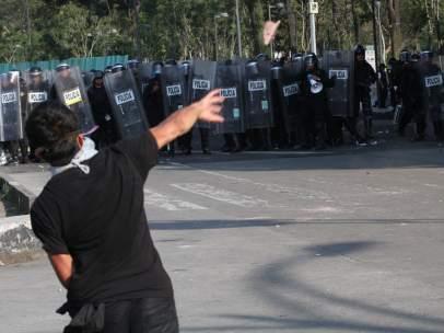 Enfrentamiento Marcha 2 de octubre