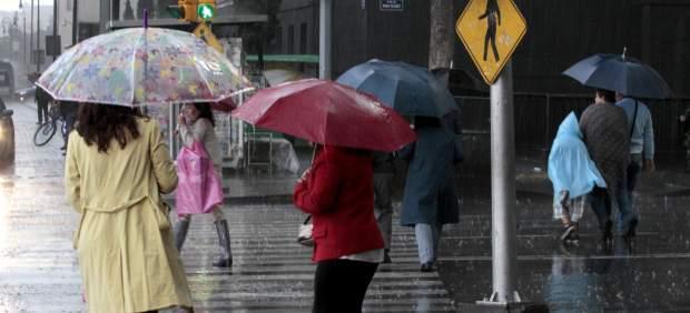 Lluvias en la capital