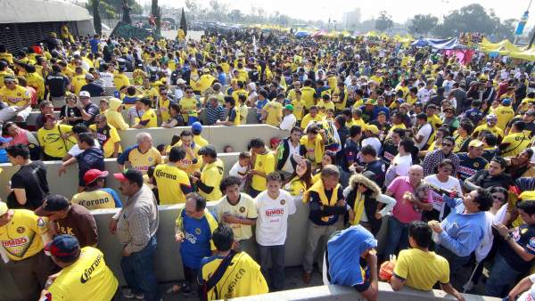 Entrada al Estadio Azteca