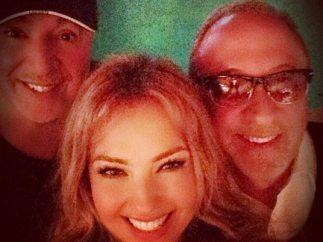 Thalía con Emilio Estefan