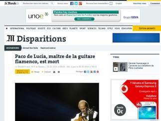 """Le Monde: """"Maestro de la guitarra flamenca"""""""