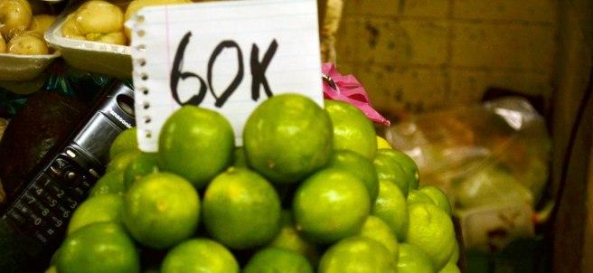 Precio del limón