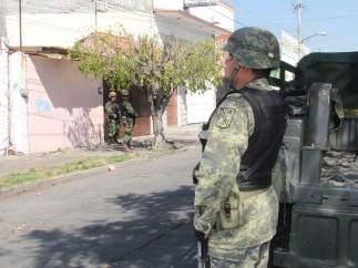 Militares durante un operativo