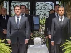 Peña Nieto en el funeral de Lorenzo Zambrano
