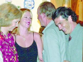 Con Antonio Banderas y Melanie Griffith