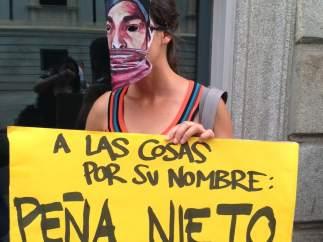 Protestas pacíficas contra la visita de Peña Nieto a España