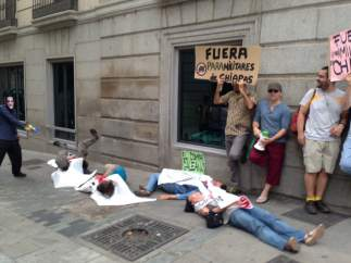 Concentraciones contra la visita de Peña Nieto a Madrid