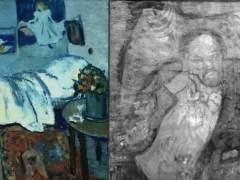 """´La habitación azul´ (i) de Picasso y su """"cuadro fantasma"""" (d)."""